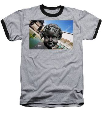 Smiling Cherub Baseball T-Shirt