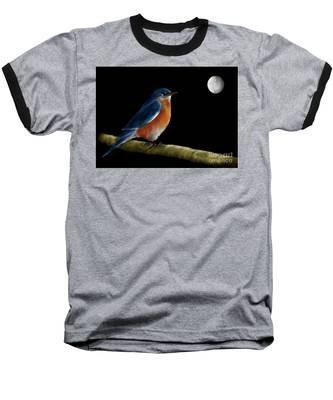 Spellbound By The Light Of The Silvery Moon Baseball T-Shirt by Lois Bryan