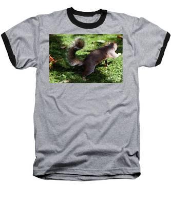 Squirrel Running Baseball T-Shirt