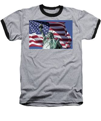 Baseball T-Shirt featuring the photograph Statue Of Liberty New York  by Juergen Held