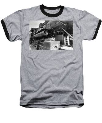 Steam Locomotive Side View Baseball T-Shirt