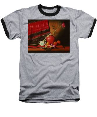 Still Life With Red Vase. Baseball T-Shirt