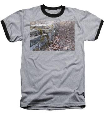 Stone Wall At Jackson Lock Baseball T-Shirt
