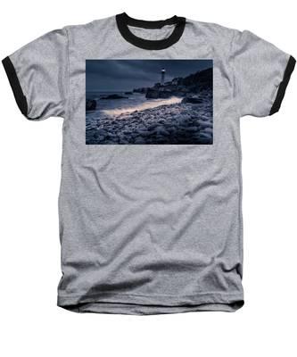 Stormy Lighthouse 2 Baseball T-Shirt