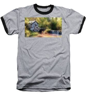 Summer At The Mill Baseball T-Shirt by Andrea Platt