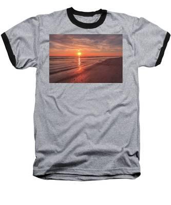 Sunburst At Sunset Baseball T-Shirt