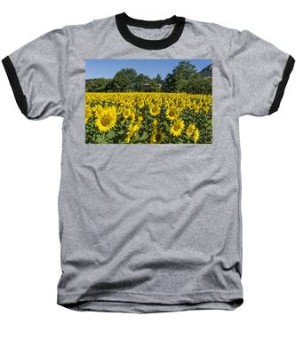 Baseball T-Shirt featuring the photograph Sunflowers Provence  by Juergen Held
