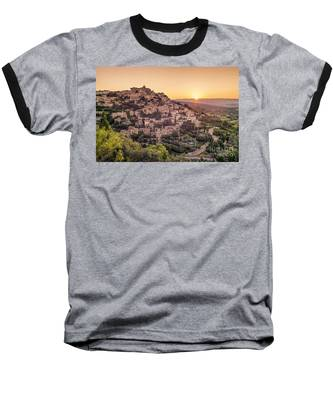 Baseball T-Shirt featuring the photograph Sunrise In Gordes Provence  by Juergen Held