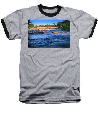 Sunrise On Watson Mill Bridge Baseball T-Shirt