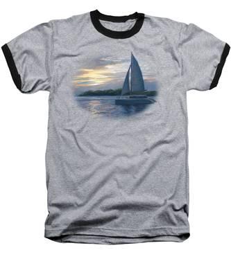 Sunset In Key West Baseball T-Shirt