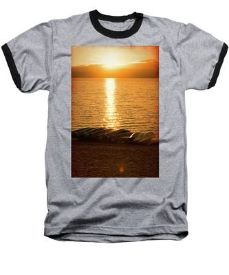Sunset On Quinault Baseball T-Shirt