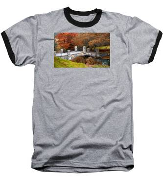 The Bridge To Autumn By Mike Hope Baseball T-Shirt