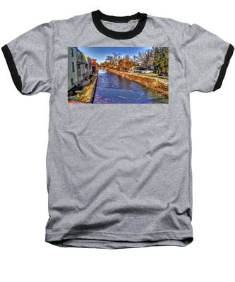 The Canal At New Hope In Winter Baseball T-Shirt