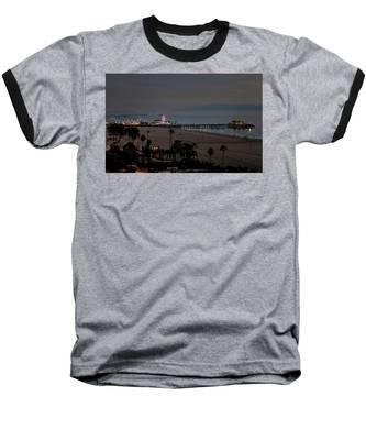 The Pier After Dark Baseball T-Shirt