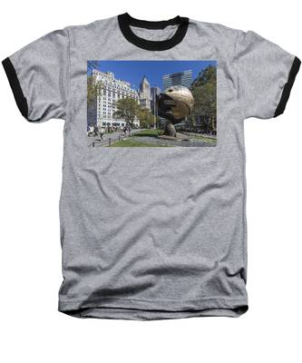 Baseball T-Shirt featuring the photograph The Sphere Batterie Park Nyc by Juergen Held