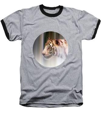 Tiger In The Mist Baseball T-Shirt