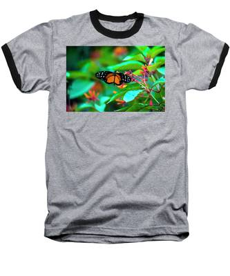 Tiger Longwing Butterfly Baseball T-Shirt