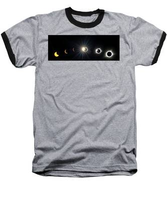 Total Solar Eclipse Sequence Baseball T-Shirt
