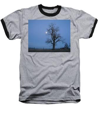 Tree And Moon Baseball T-Shirt