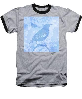 Tree Birds II Baseball T-Shirt
