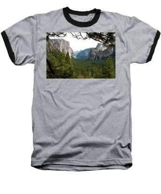 Tunnel View Framed Baseball T-Shirt
