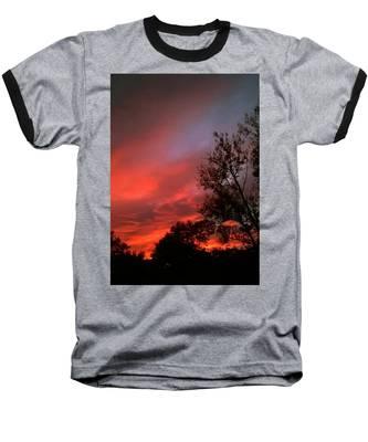 Twilight Fire Baseball T-Shirt