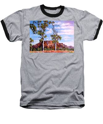 Twin Ghost Gums Of Central Australia Baseball T-Shirt