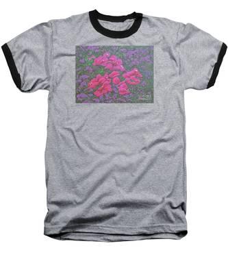 Two Layer Bougainvillea Baseball T-Shirt