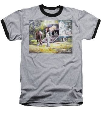 Unloading The Clydesdales Baseball T-Shirt