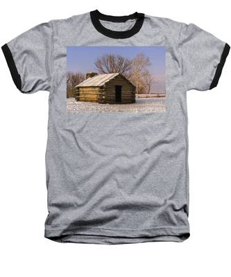 Valley Forge Cabin At Sunset Baseball T-Shirt