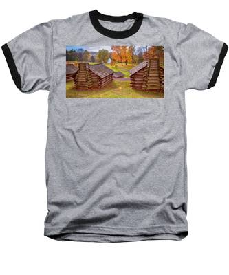 Valley Forge Huts In Fall Baseball T-Shirt
