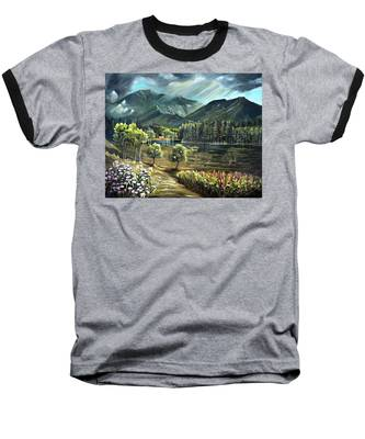Vista View Of Cannon Mountain Baseball T-Shirt