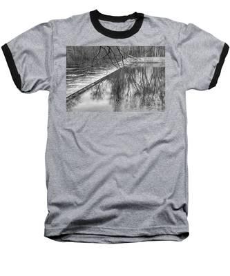 Water Flowing Over Dam In Wayne New Jersey Baseball T-Shirt