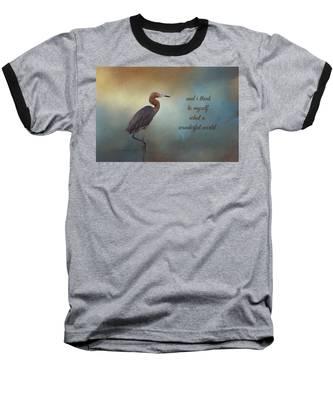 What A Wonderful World Baseball T-Shirt