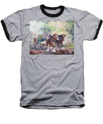Working Clydesdale Pair, Victoria Breweries. Baseball T-Shirt