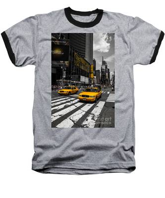 Yellow Cabs Cruisin On The Times Square  Baseball T-Shirt