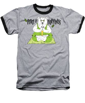 Yoga Beer Bear Baseball T-Shirt