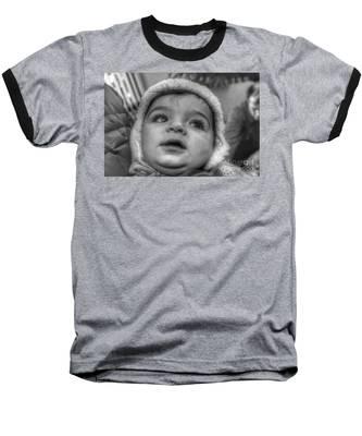 Youth In A Fleece Lined Cap Baseball T-Shirt