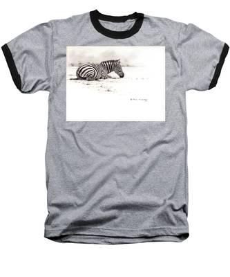 Zebra Sketch Baseball T-Shirt
