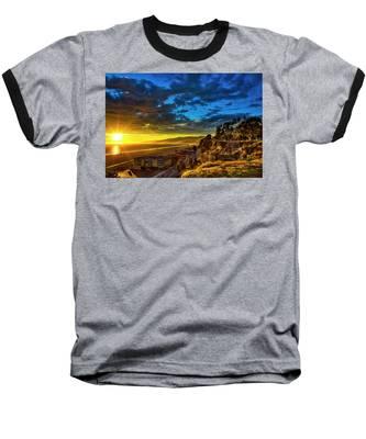 Santa Monica Bay Sunset - 10.1.18 # 1 Baseball T-Shirt