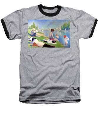 Bathers At Asnieres Baseball T-Shirt