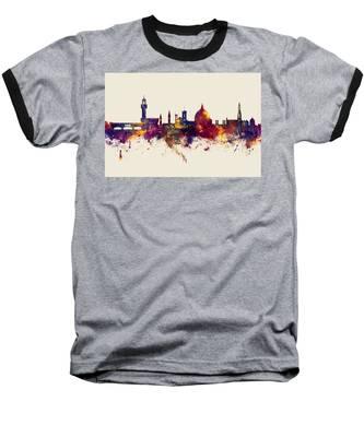 Florence Italy Skyline Baseball T-Shirt