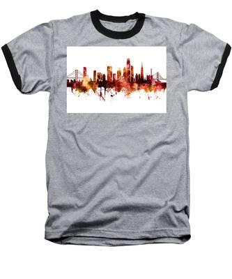 San Francisco City Skyline Baseball T-Shirt