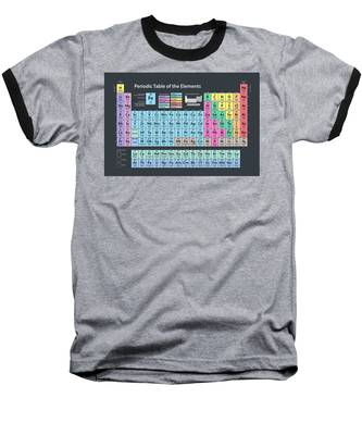 Periodic Table Of Elements Baseball T-Shirt