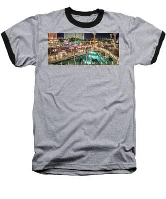 View Of The Venetian Hotel Resort And Casino Baseball T-Shirt