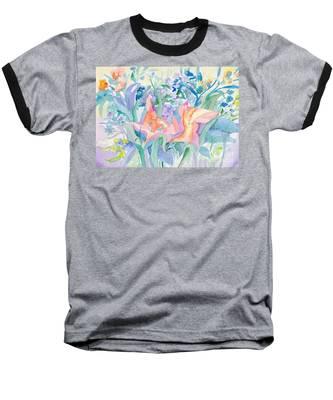 Abstract Lilies Baseball T-Shirt