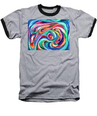 Abstract Underwater World Baseball T-Shirt