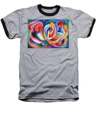 Abstraction Bloom Baseball T-Shirt
