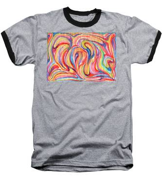 Abstraction In Autumn Colors Baseball T-Shirt
