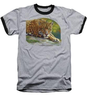 Peaceful Jaguar Baseball T-Shirt